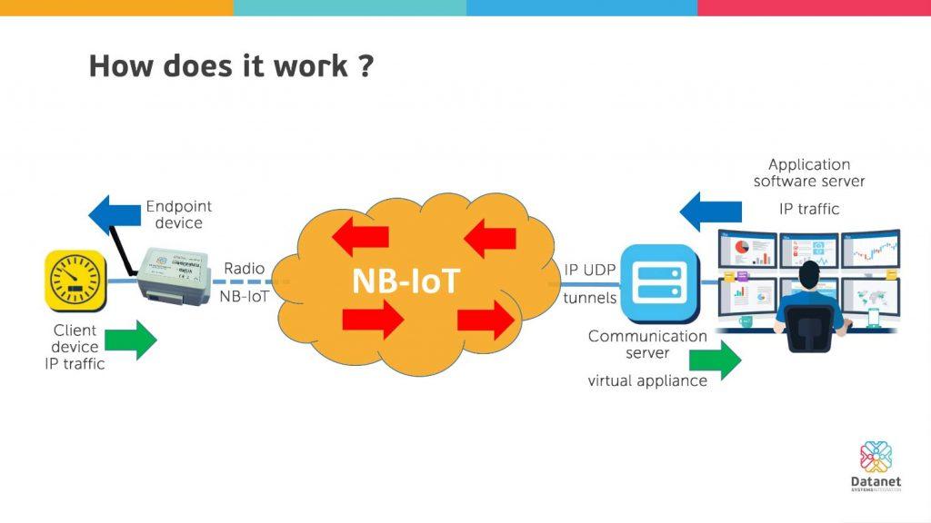 IP traffic transport system via NB-IoT - Datanet Systems
